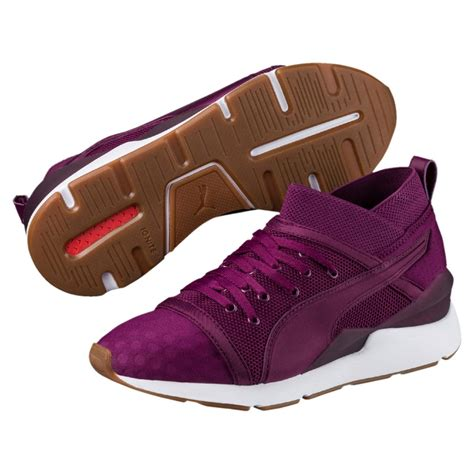 Purple Puma Sneakers