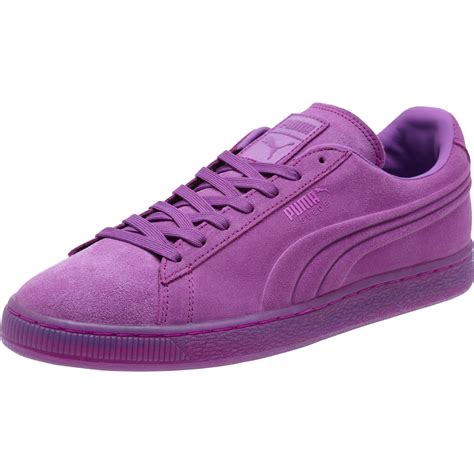 Purple Puma Sneakers Suede