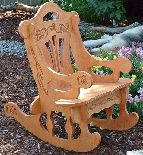 Puzzle Rocking Chair Plans