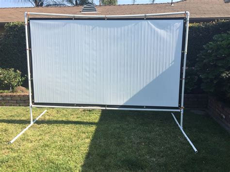 Pvc Projector Screen Stand Diy Fire