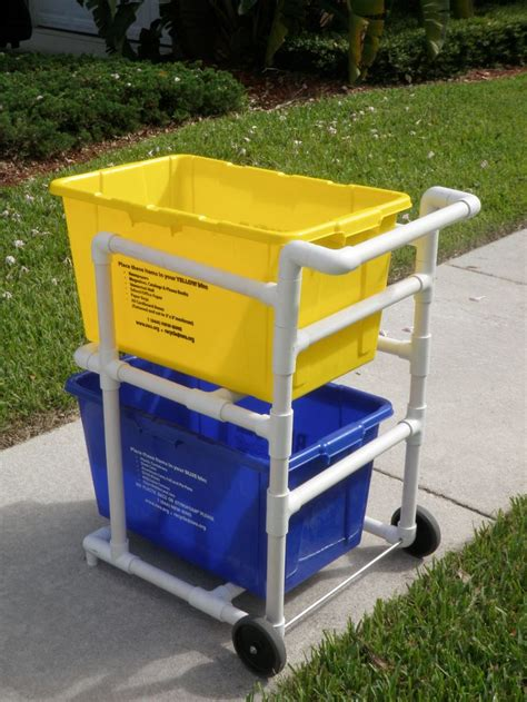 Pvc Recycling Bin Cart Plans