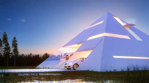 Pyramid House Building Plans
