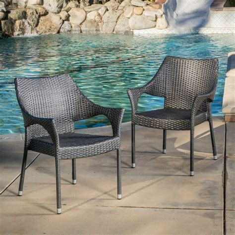 Quade Weave Stacking Patio Dining Chair