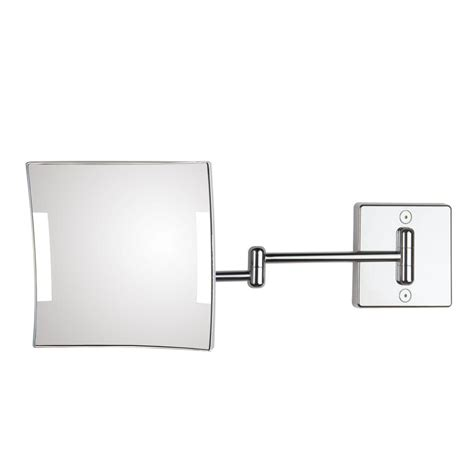 Quadrolo 2-Arm Cable And Plug Led Magnifying Mirror