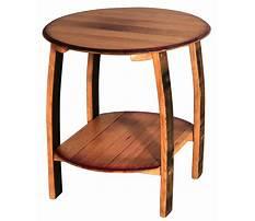 Best Quarter round side table shelves wood