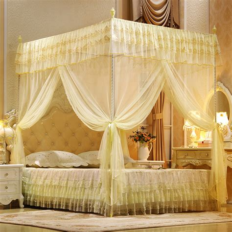 Queen Bed Canopy Drapes