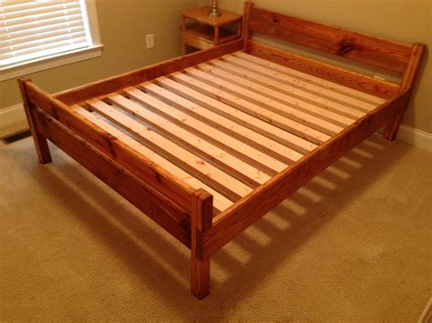 Queen Bed Frame Diy Plans