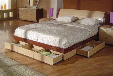 Queen Bed With Drawers Underneath Plan Se De Color At