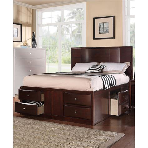 Queen Bed With Drawers Underneath Planswift