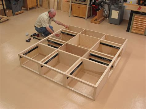 Queen Platform Bed With Drawers Diy Plans
