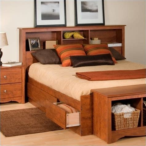 Queen Size Bookcase Headboard Cherry