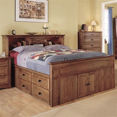 Queen Size Captains Storage Bed Plans