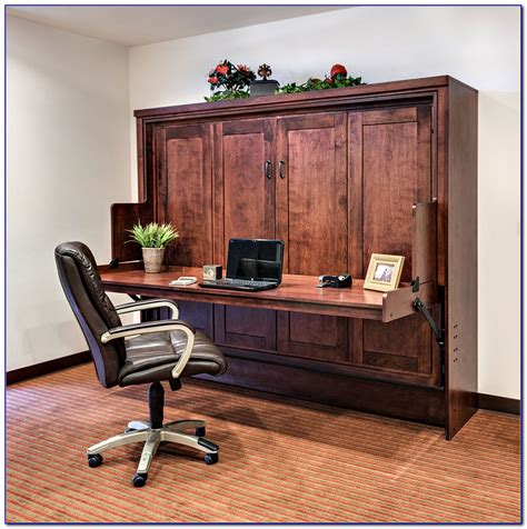 Queen Size Murphy Bed Desk