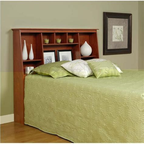 Queen Size Tall Headboard With Shelves