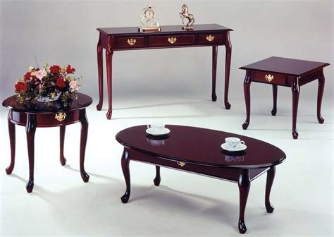 Queen-Anne-Coffee-Table-And-End-Tables