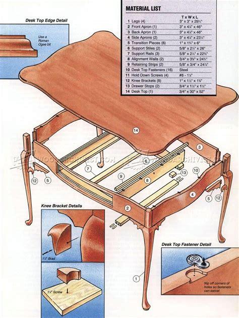 Queen-Anne-Desk-Plans
