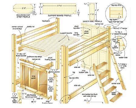 Queen-Loft-Bed-Frame-Plans