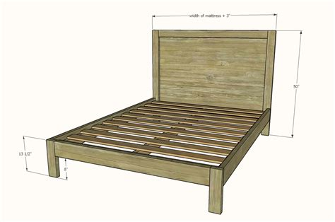 Queen-Size-Bed-Frame-Dimensions-Diy