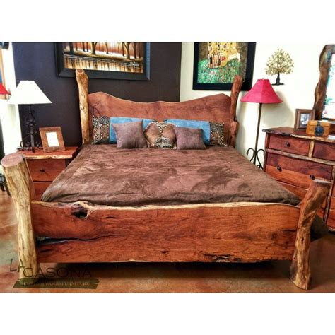 Queen-Size-Bed-Frame-Woodworking-Plans-Slab-Headboard