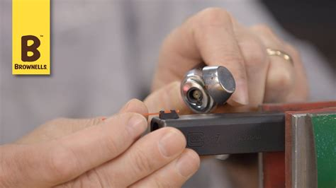 Quick Tip How To Install A Fiber Optic Rod In Front Sight.