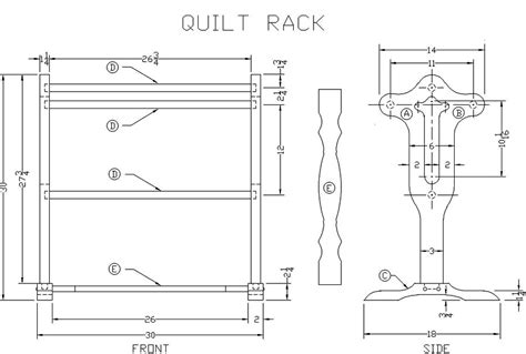 Quilting Rack Wooden Plans