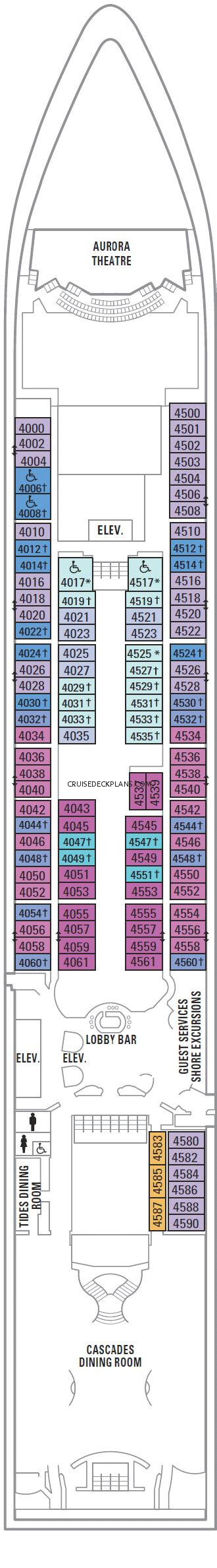Radiance Of The Seas Deck Plans 4