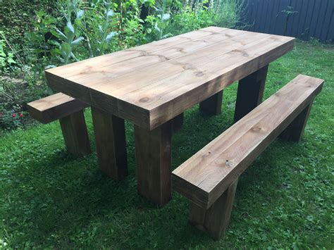Railway Sleeper Table Diy Chalk