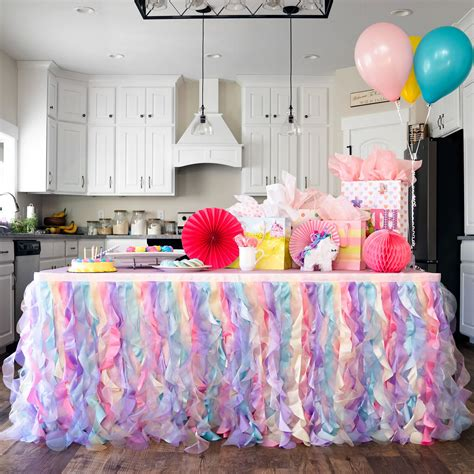 Rainbow Table Skirt Diy Projects