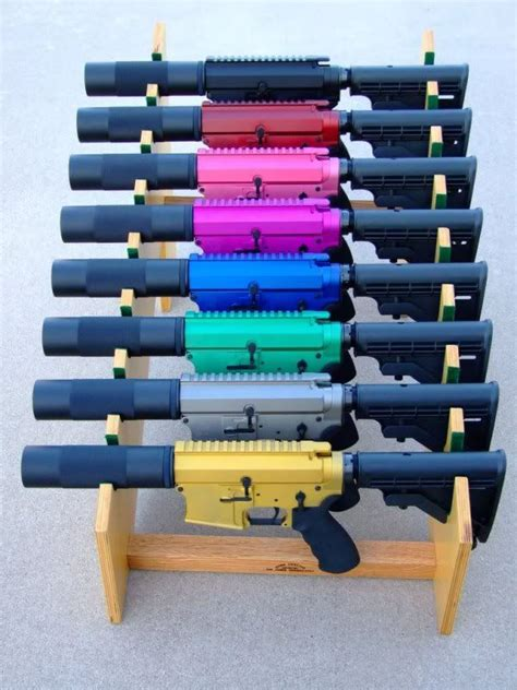 Rainbow Colored Ar Parts And Sig Mcx Parts Interghangeable Ar 15