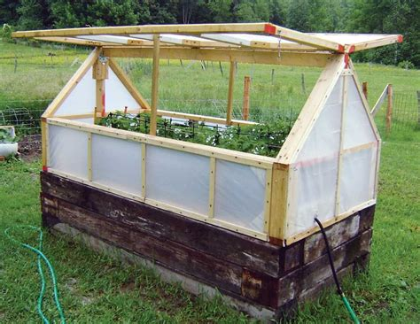 Raised Bed Greenhouse Cover Diy