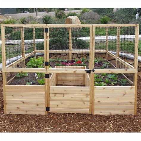 Raised Garden Bed From Cedar Fence Plans