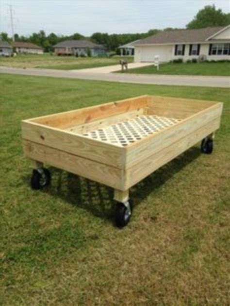 Raised Garden Bed On Wheels DIY