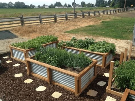 Raised Garden Bed Plans Corrugated Metal