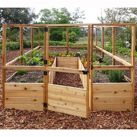 Raised Garden Bed Plans With Fence