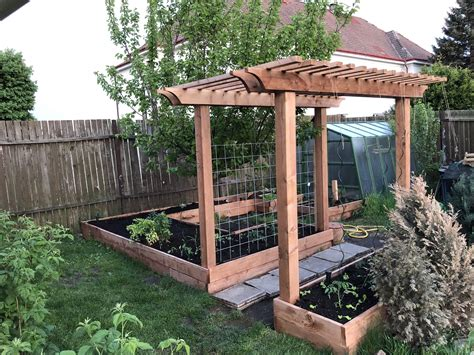 Raised Garden Bed With Pergola Plans
