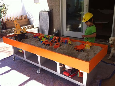Raised Sandbox Plans For Kids