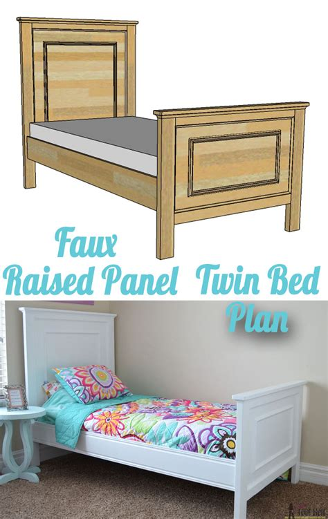 Raised Twin Bed With Storage Plans