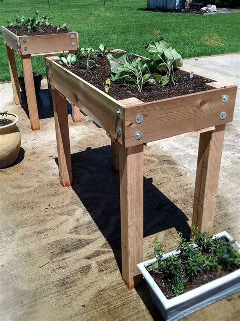 Raised Wooden Planters Diy