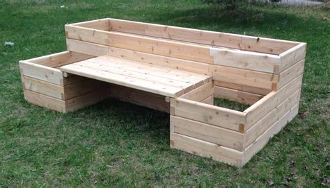 Raised-Garden-Bed-With-Bench-Plans