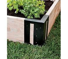Best Raised garden bed corners corner bracket