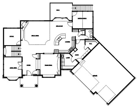 Rambler House Plans With Angled Garage Plans