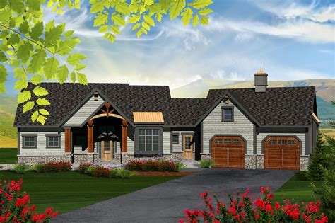 Ranch House Plans With Large Garage Doors