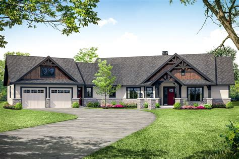 Ranch Style House Plans With Angled Garage