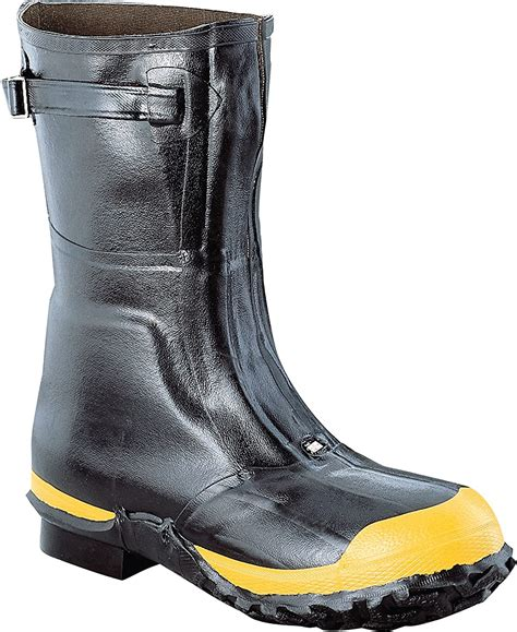 Ranger 16' Heavy-Duty Men's Rubber Work Boots with Steel Toe and Steel Midsole, Black & Yellow (2144)