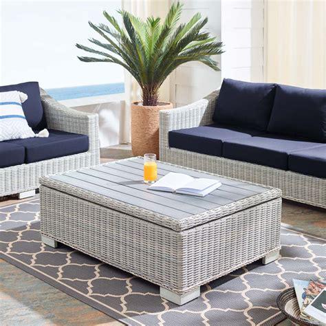 Rattan Coffee Table Set Image