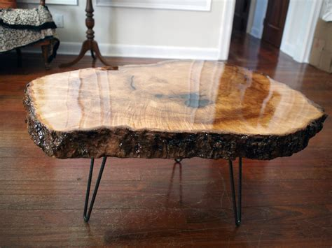 Raw Wood Coffee Table Diy Pinterest