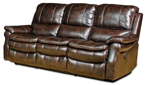 Real Leather Reclining Couch