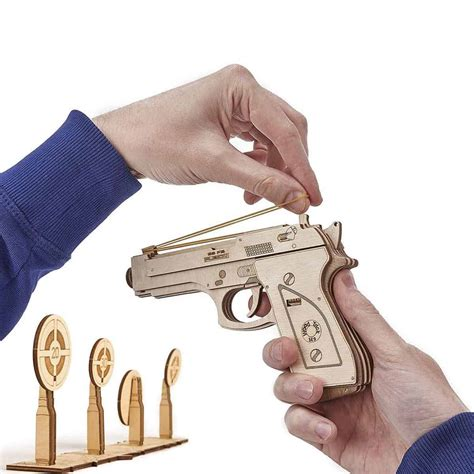 Realistic Wooden Toy Guns
