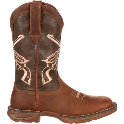 Rebel by Men's 12' Crossed Guns Western Boot-DDB0077