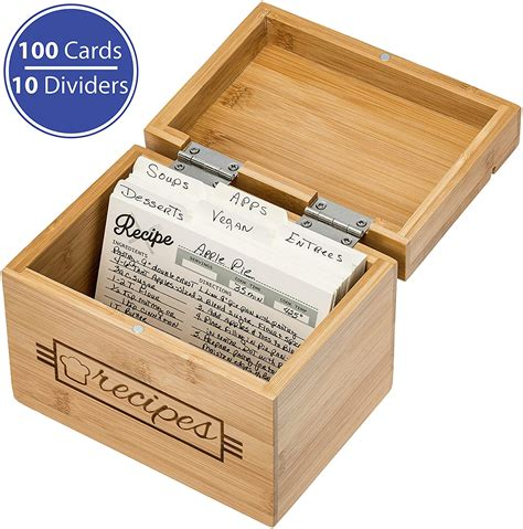 Recipe Box Divider Cards